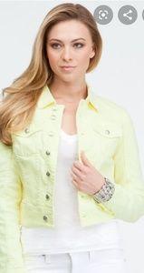 Sunny bright crop denim jacket